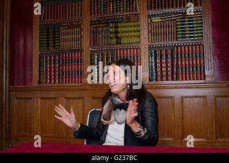 London, UK. 23rd May, 2016. Claudia Piñeiro is interviewed ahead of her a talk about her book Betty Boo Credit: - Stock Photo