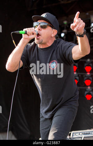 Columbus, Ohio, USA. 22nd May, 2016. Singer JIM LINDBERG of Pennywise performs live during Rock on the Range music - Stock Photo