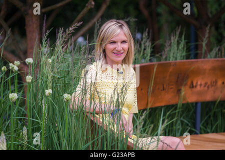 London, UK. 23rd May, 2016. Broadcaster Jo Wylie at Chelsea Flower  Show 2016 Credit:  David Betteridge/Alamy Live - Stock Photo