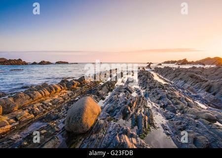 Blegberry Beach on the North Devon coast near Hartland, England. - Stock Photo