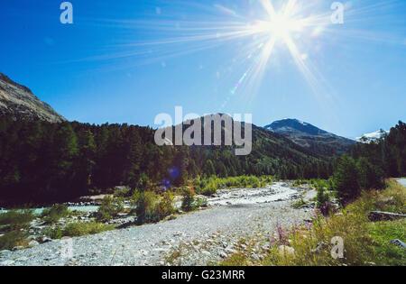 Road in mountain range - Stock Photo