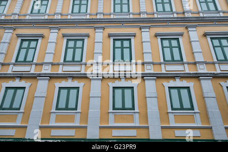 The colorful Ministry of Defence Building in Bangkok, Thailand - Stock Photo