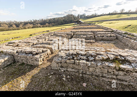 North Leigh Roman Villa, Oxfordshire, England, UK - Stock Photo