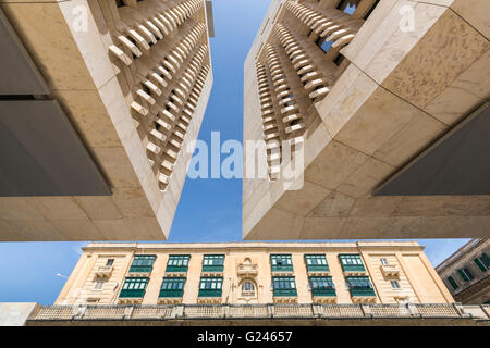 Parliament building, Valletta, Malta - Stock Photo