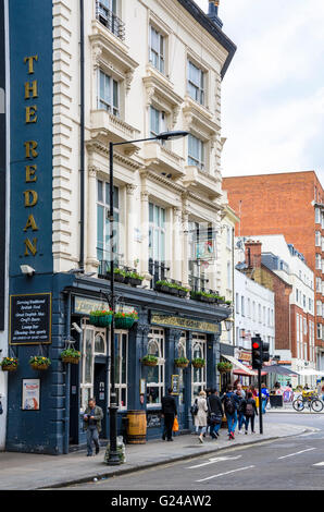 the redan pub on the corner of queensway and westbourne grove in bayswater london