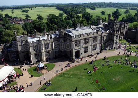Embargoed to 0001 Tuesday May 24 File photo dated 02/06/10 of a general view of Warwick Castle in Warwickshire, - Stock Photo
