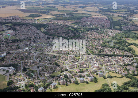 An aerial view of the Singleton area of Ashford, Kent - Stock Photo