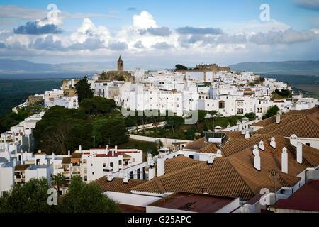 Townscape, Vejer de la Frontera, Cadiz, Andalucia, Spain - Stock Photo