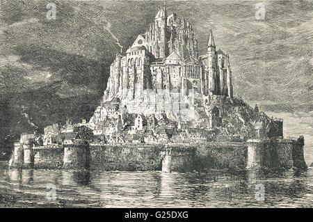 Mont Saint Michel, The Marvel, France - Stock Photo