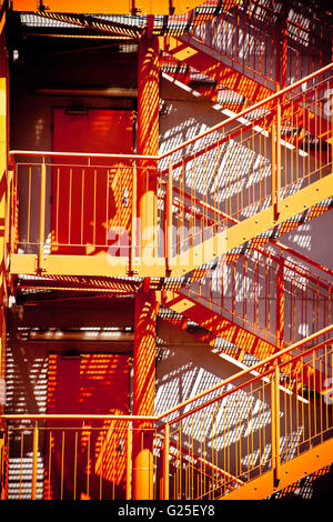 external industrial staircase - Stock Photo