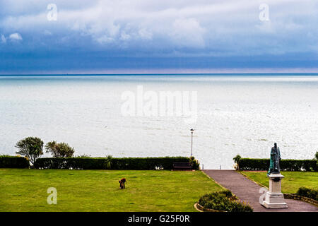View onto the sea from the Grandhotel Eastbourne, room with a view; Blick aufs Meer vom Grandhotel Eastbourne - Stock Photo
