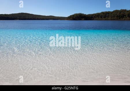 Lake McKenzie, UNESCO World Heritage Site, Fraser Island, Great Sandy National Park, Queensland, Australia - Stock Photo