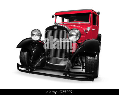 1926 Essex Super Six red vintage car hot rod - Stock Photo