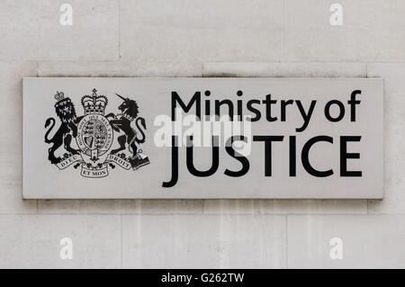 The Ministry of Justice headquarters in London, England United Kingdom UK - Stock Photo