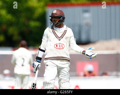 Old Trafford, Manchester, UK. 24th May, 2016. Supersavers County Championship. Lancashire versus Surrey. Day 3. - Stock Photo
