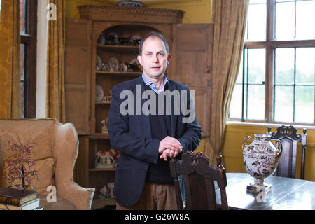 Ben Cowell, Director General of the Historic Houses Association, photographed at Chenies Manor House, Buckinghamshire, - Stock Photo