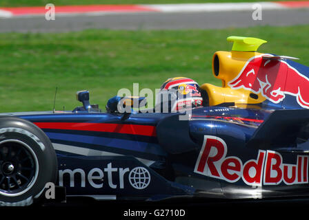 Mark Webber Formula one testing - Stock Photo
