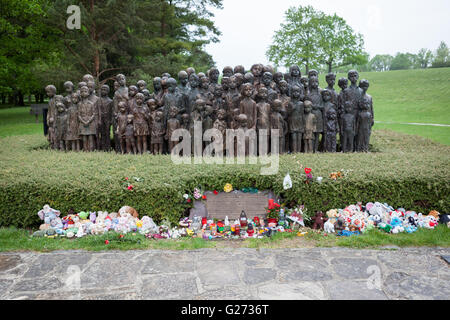 Memorial for the children of Lidice, Czech Republic - Stock Photo