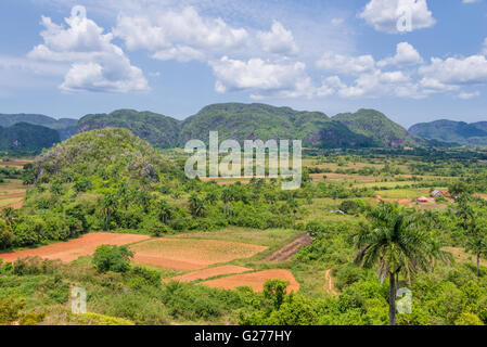 Panorama of Vinales Valley, Cuba - Stock Photo