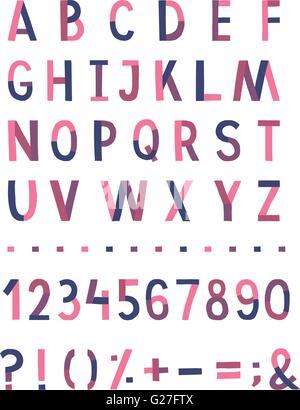 Handwritten vector alphabet - Stock Photo