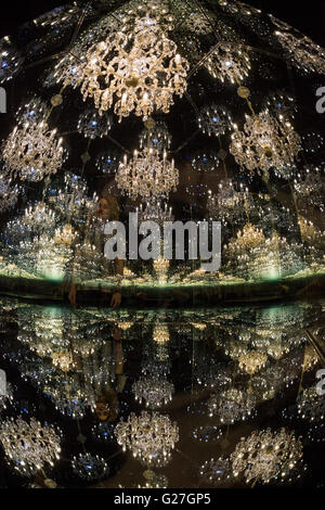 London, UK. 24 May 2016. Chandelier of Grief, 2016. A new exhibition by Japanese artist Yayoi Kusama opens at all - Stock Photo
