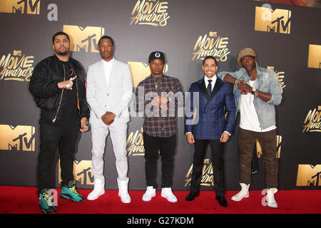 25th Annual MTV Movie Awards  Featuring: Actors O'Shea Jackson Jr., Corey Hawkins, Common, Neil Brown Jr., Jason - Stock Photo