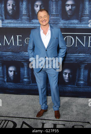 Los Angeles premiere for season 6 of HBO's 'Game of Thrones' - Arrivals  Featuring: Owen Teale Where: Los Angeles, - Stock Photo