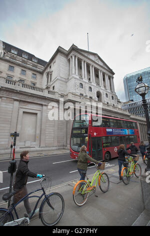 Occupy London's city walking tour through the heart of City of London's financial institutions, London, England, - Stock Photo