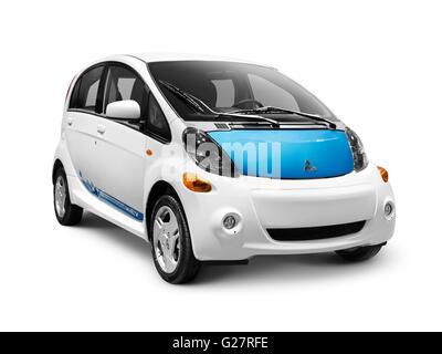 2012 Mitsubishi i MiEV electric car - Stock Photo