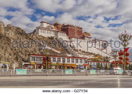The Potala Palace in Lhasa - Stock Photo