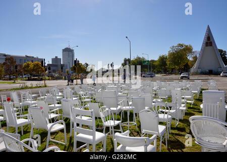 185 Empty Chairs - Stock Photo