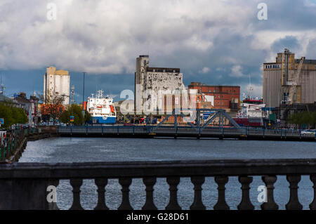 Docks and River in Cork city County Cork Ireland - Stock Photo