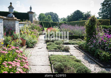 The Cutting and herb garden at Lytes Cary Manor Somerset England UK - Stock Photo