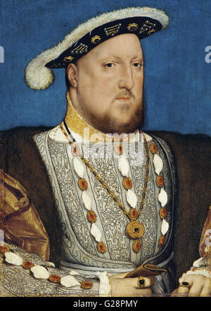 Hans Holbein, the Younger, Around 1497-1543 - Portrait of Henry VIII of England  - Museo Thyssen - Bornemisza - Stock Photo