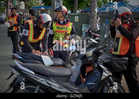 Thai traffic police. Thailand S. E. Asia - Stock Photo