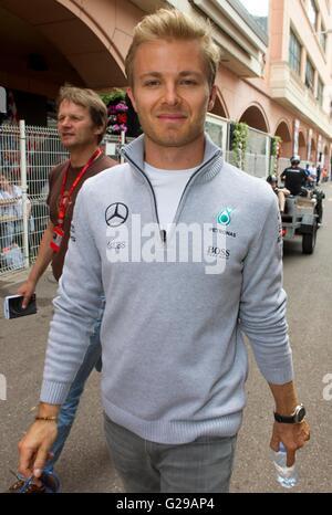 Monaco, Monte Carlo. 25th May, 2016: FIA Formula One World Championship with Nico Rosberg, Mercedes AMG Petronas - Stock Photo