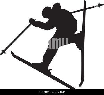 Skiing Jump - Stock Photo