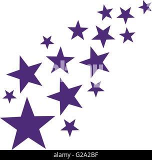 Lila falling stars - Stock Photo