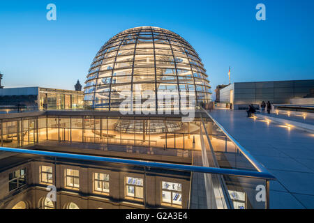 Norman Foster's Dome of the Reichstag Building, Berlin, Germany - Stock Photo
