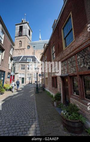 A street-level view of Hooglandse Kerk, Leiden. - Stock Photo