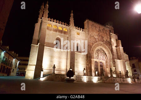 Santa Maria la Real de Aranda de Duero church in Aranda del Duero, Burgos. Spain - Stock Photo
