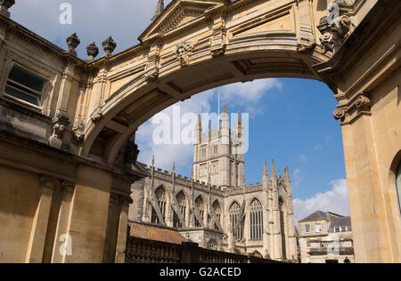 Bath Abbey, Somerset, England - Stock Photo