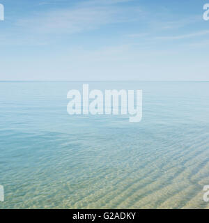 Seascape with transparent water at Cape Cod - Stock Photo