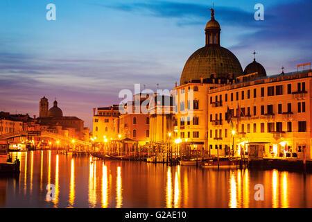 San Simeone Piccolo Church by Grand Canal Venice, Veneto, Italy - Stock Photo