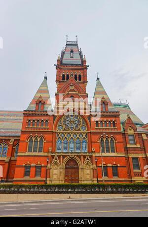 Transept of Memorial Hall of Harvard University in Cambridge, Massachusetts, USA. - Stock Photo