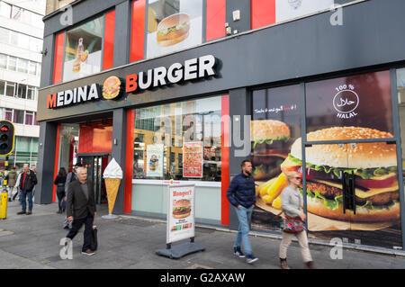 Halal Fast Food Restaurant In The Pakistani Neighborhood
