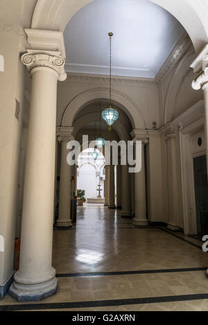 Palacio de los Leones, Palace of the Lions,  City Hall, Rosario, Santa Fe province, Argentina - Stock Photo