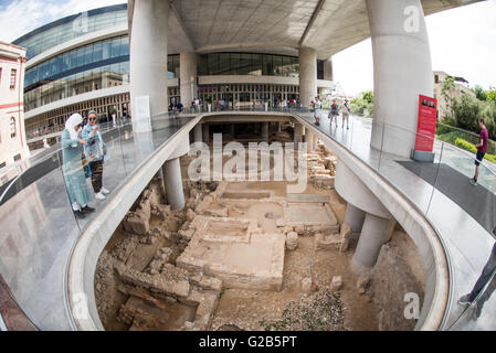 ATHENS, Greece - Opened in 2009, the new Acropolis Museum is designed to house all of the artefacts recovered from - Stock Photo