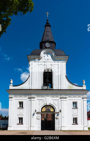 Bell tower and gate. The Monastery of the Annunciation in Poland. - Stock Photo