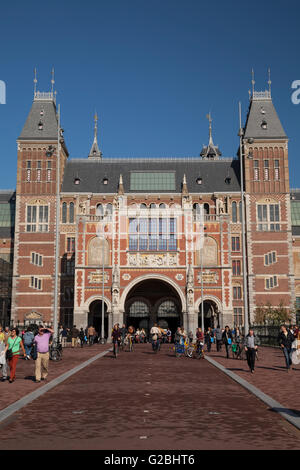 Rijksmuseum museum on Museumplein square, Amsterdam, North Holland province, Netherlands - Stock Photo